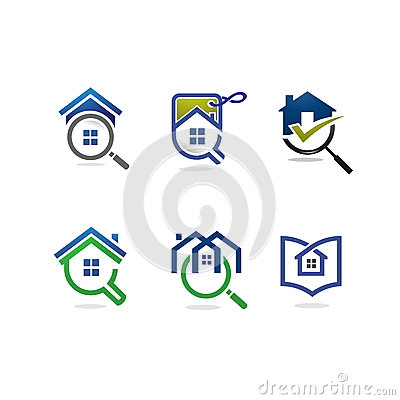 House logo stock vector image 56275820 for Minimalist house logo