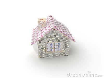 The house made of 100 dollar