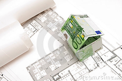 The house made of 100 Euro banknotes