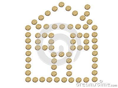 House made of Australian Dollar coins