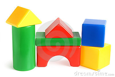 House made from children s building blocks