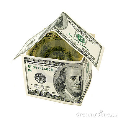 House made of hundred dollars notes