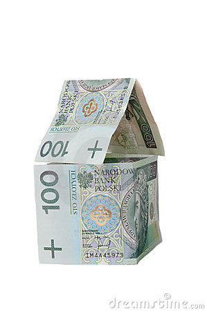House made of polish banknotes