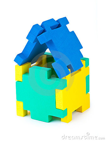 House made of puzzle
