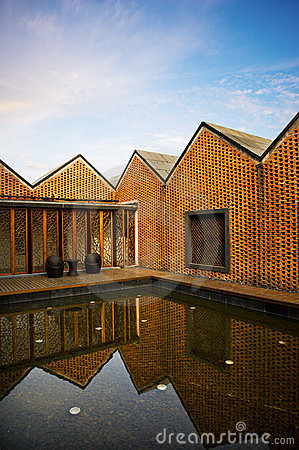 House made of red bricks