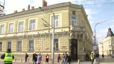 House of Moscow in the center of Sofia, Bulgaria stock footage