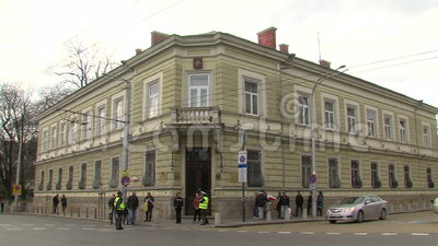 House of Moscow in Sofia, Bulgaria stock video footage
