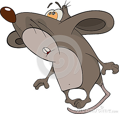 House mouse. Cartoon