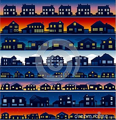 House neighborhood background