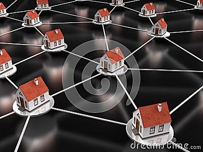House Network on black