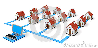 House Network with laptop