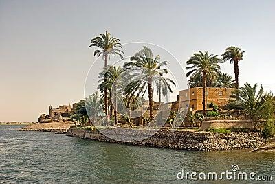 House on Nile river, Egypt