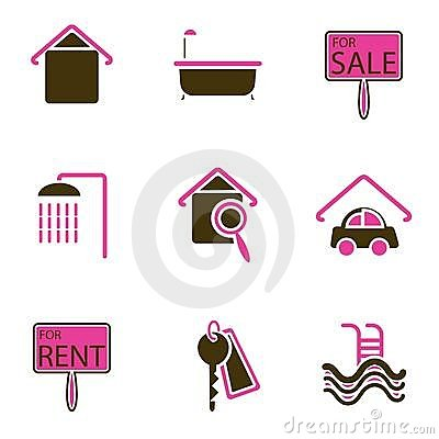 House object icon set