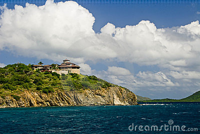 House on ocean cliff