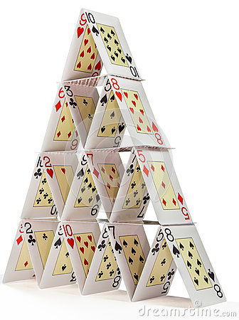 Free House Of Cards Isolated On White Stock Image - 46471621