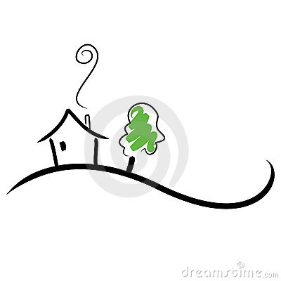 Free House On A Hill Stock Photo - 7604880