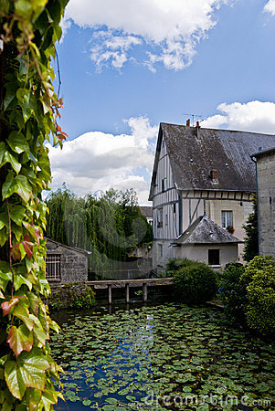 Free House On A Pond Stock Photography - 4194112