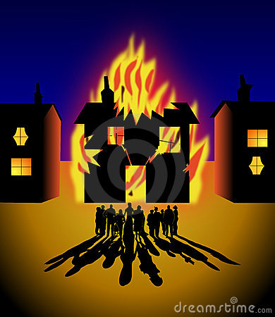 Free House On Fire Royalty Free Stock Images - 16282909