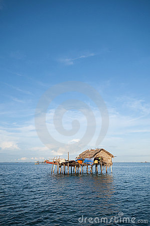 Free House On Wooden Stilts Royalty Free Stock Photo - 12833875