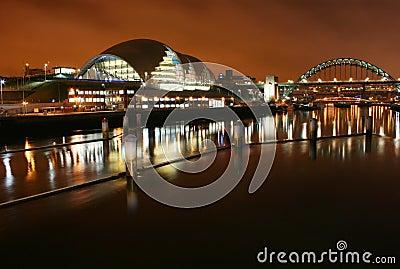 House of opera and Tyne bridge