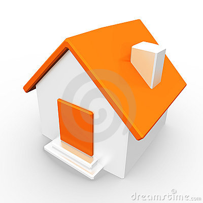 House with orange roof
