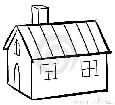 Royalty Free Stock Photo House Outline Image20699815 on home audio design