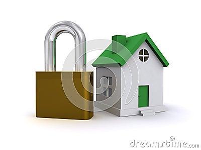 House and padlock
