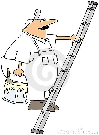 House Painter On A Ladder