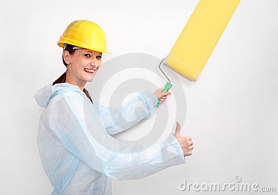 House painter with roller.