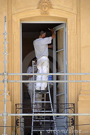 Free House Painters At Work Royalty Free Stock Photos - 3140078
