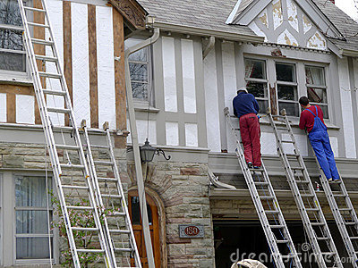 House painters at work Editorial Stock Image