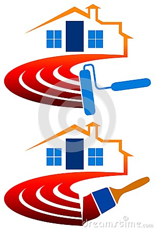 House Painting Logo Stock Image - Image: 25456541