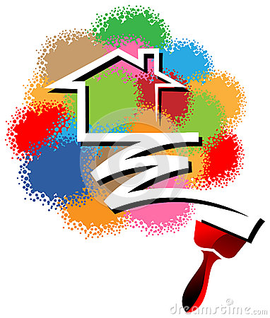 House Painting Logo Stock Vector Image 51097606