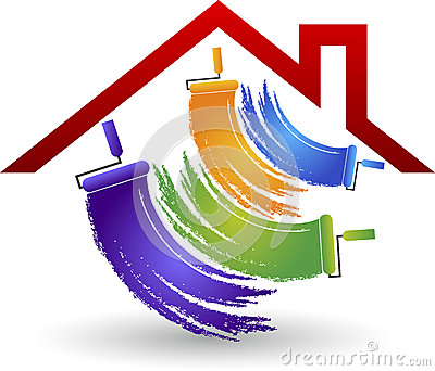 house painting logo Vector Illustration