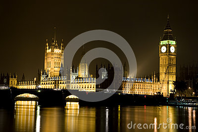 House of Parliament and Big Ben at Night