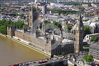 House of Parliament with Big Ben tower in London