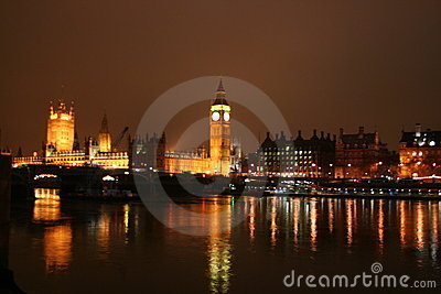 House of Parliament at night