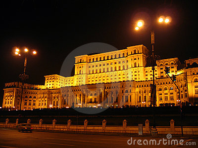 House of Parliament - night, Bucharest, Romania