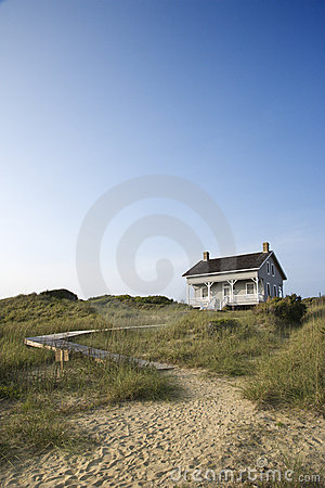 House with path to beach.