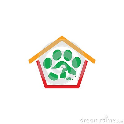 House pet shop care logo business Vector Illustration