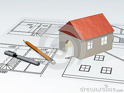 House at plan