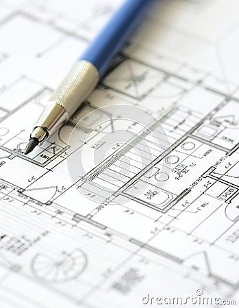 House plan blueprint - Architect design