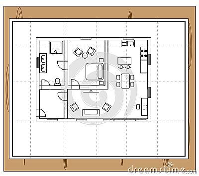 House Plan Stock Vector Image 59089890