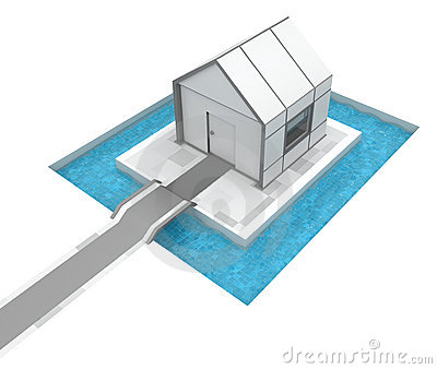House Pool Moat