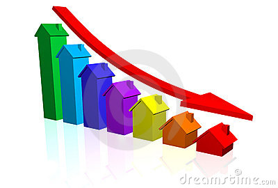 House Prices Going Down Stock Images - Image: 16767054