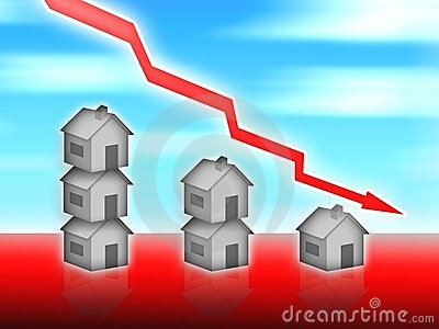 House property value down