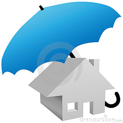 House protected by safety home insurance umbrella