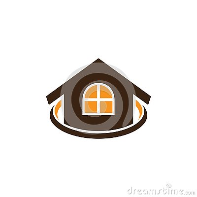 House real estate business logo Vector Illustration