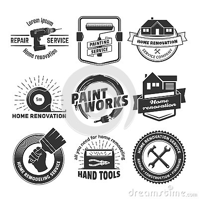 House Remodeling Logos Stock Vector - Image: 80187087