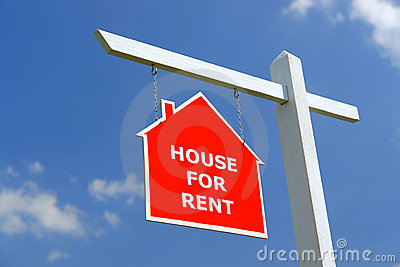 House for Rent signpost
